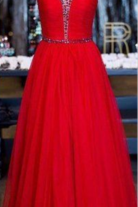 Red Prom Dresses,A line Prom Dress,Prom Gown,Sexy Prom Dress,Sexy Evening Gowns,Party Dress for Teens