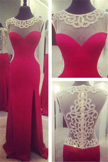 Sexy backless Prom Dress, Luxury beads Long prom dresses,red Prom Dresses,mermaid Prom Dresses,Sparkle Prom Dresses,Backless Prom Dresses,High Quality Graduation Dresses,Wedding Guest Prom Gowns, Formal Occasion Dresses,Formal Dress
