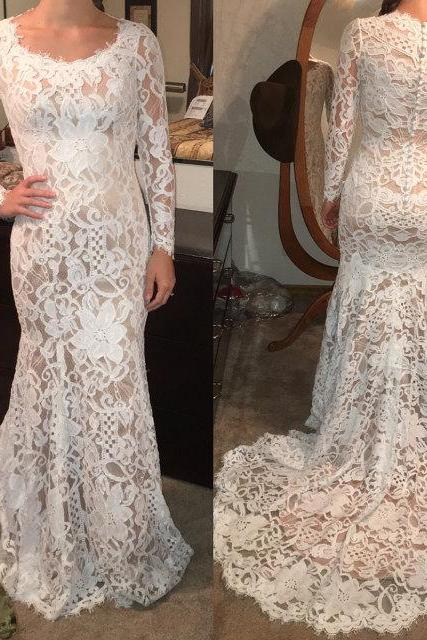 Charming Prom Dress,Lace Prom Dress,O-Neck Prom Dress,Mermaid Prom Dress,Long-Sleeves Evening Dress,Cheap Party Dresses,Graduation Gowns,Wedding Guest Prom Gowns, Formal Occasion Dresses,Formal Dress,Wedding Guest Prom Gowns, Formal Occasion Dresses,Formal Dress