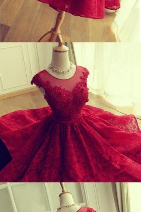 Homecoming Dress,Sexy New Style Lace Homecoming Dress, Open Back Applique Homecoming Dress, Red Prom Dress,Custom prom dresses, Formal Dresses, High Quality Party Dresses,High Quality Graduation Dress,Wedding Guest Dress