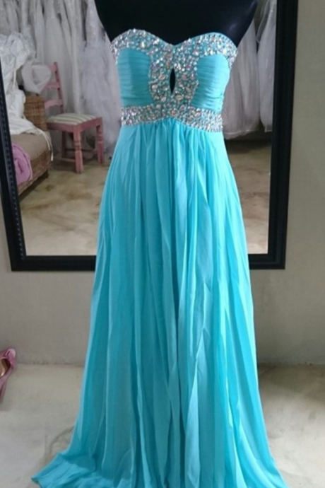 Vestidos Longos De Festa Noite Real Photos Turquoise Chiffon Long Evening Party Dresses Cheap