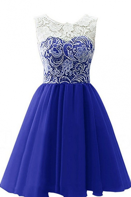 Sleeveless Lace Short Party Dresses Evening Gowns short prom dresses