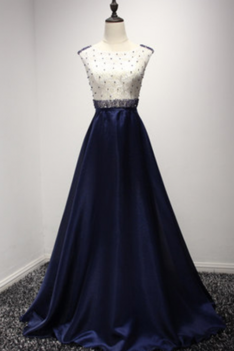Prom Dresses Prom Gowns,navy blue Prom Dresses, Party Dresses,Long Prom Gown,Prom Dress,Evening Gown,Party Gown