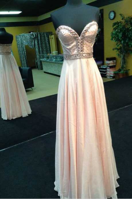 Sleeveless Evening Dress,Sexy Chiffon Evening Dresses,Long Prom Dresses,Formal Dress