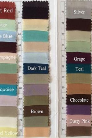 Our color chart , We can make it in any color number from it