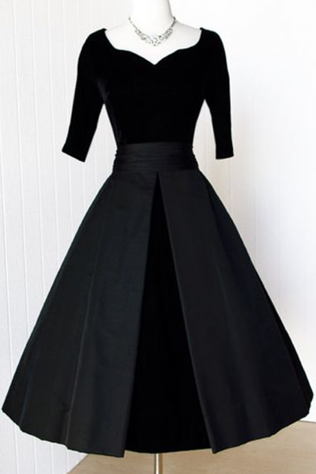 Black Velvet Prom Gowns, Homecoming Dress