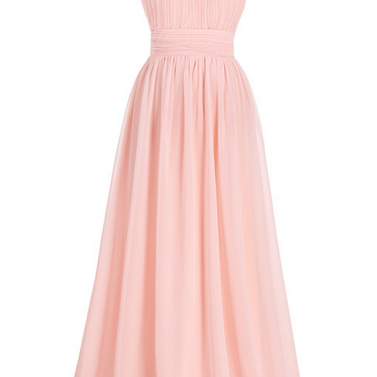 Bridesmaid Dresses,Pink Bridesmaid Dress Long Chiffon Beach Bridesmaid Dresses