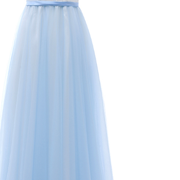 The v-neck ball gown in the foyer is an elegant long evening gown
