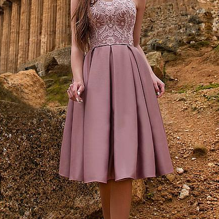 Petal Power Homecoming Dresses With A-Line/Princess Sweetheart Knee-Length Satin Ruffles Applique Zipper Up Elegant Party Dresses