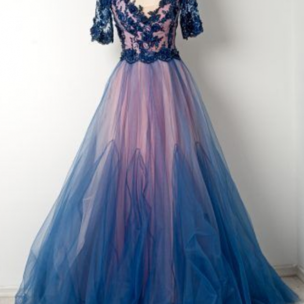 beautiful long prom dress, evening dress