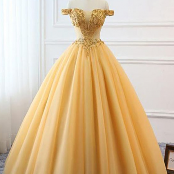 Tulle Off Shoulder Corset Custom Size Prom Dress
