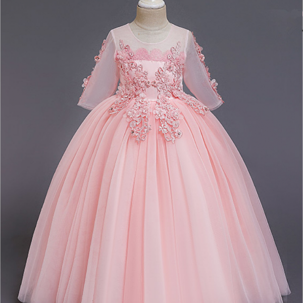 Flower Girl Dresses,new style children princess skirt European and American net gauze girl dress
