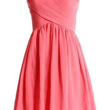 SPAGHETTI STRAPSS RUFFLED CHIFFON BRIDESMAID Short Bridesmaid Dresses Ceremony dress
