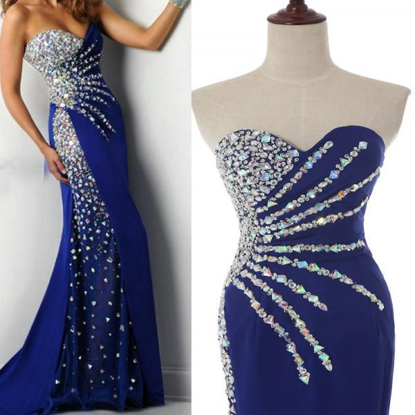 Prom Dress Luxury Prom Dress Sexy Prom Dress Mermaid Prom Dress Beaded Prom Dress Long Prom Dress Royal Blue Prom Dresses Dress For Prom