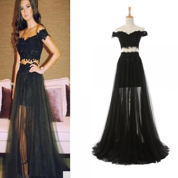 Sexy Prom Dress Celebrity Dresses Off Shoulder Prom Dress Cheap Prom Dress Black Prom Dress Lace Prom Dresses Fashion Prom Dressn Two Piece Prom Dress Women Prom Gown
