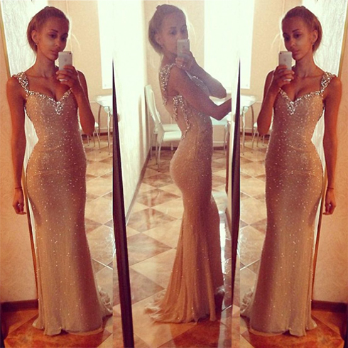 Sparkly Prom Dress Charming Prom Dress Off Shoulder Prom Dress Handmade Prom Dress 2015 New Arrival Prom Dress Elegant Prom Dress Custom Prom Dress Evening Dress