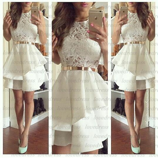 White Homecoming Dress Modest Homecoming Dresses Junior Homecoming Dress Cheap Prom Dress Prom Dress Online 2015 Prom Dress