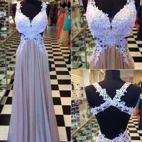Custom Made A Line Sweetheart Neck Floor Length Long Lace Prom Dresses Evening Dresses Open back a line party dresses