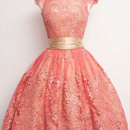 Blush Pink Homecoming Dress,Homecoming Dresses,Lace Homecoming Gowns,Short Prom Gown,Blush Pink Sweet 16 Dress,Homecoming Dress,2 pieces Cocktail Dress,Two Pieces Evening Gowns