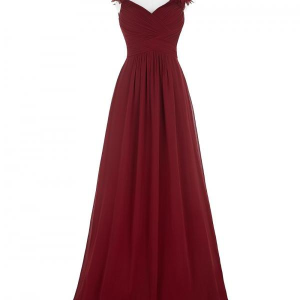 Long Evening Dress Sexy V Neck Ruched Padded Formal Wedding Party Dress Burgundy Evening Gowns