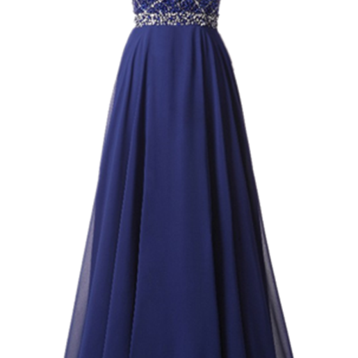 Cheap Sexy Long Evening Dress 2017 Royal Blue Chiffon A-line Real Picture Crystal Prom Gowns Hand Made Robe De Soiree Formal