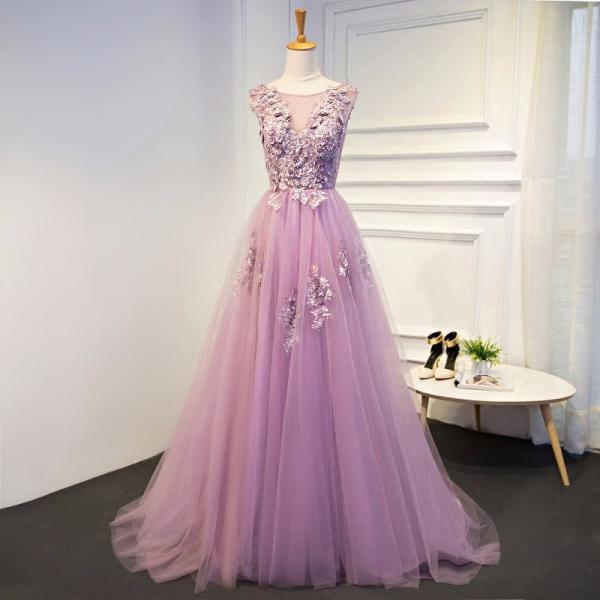 Purple Evening Dresses Long Plus Size Tulle Prom Lace Up Beaded Gown Vestido De Festa Elie Saab Dress Abendkleider 2017